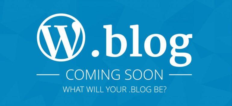 الإعلان عن النطاق العلوي blog. للمدونات