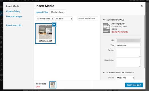 مصغرات الصور عند رفع ملفات PDF
