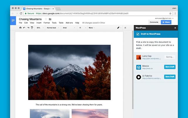 النشر من خلال مستندات جوجل،ميزة جديدة لمدونات ووردبريس